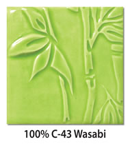 Tile glazed with 100-percent C-43 Wasabi