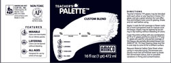 Amaco Teachers Palette custom blend label