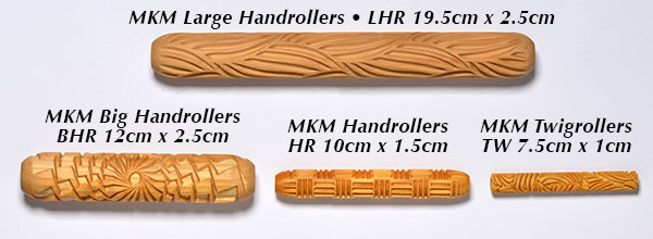 Comparison of MKM hand roller sizes